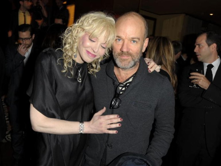 with michael stipe.