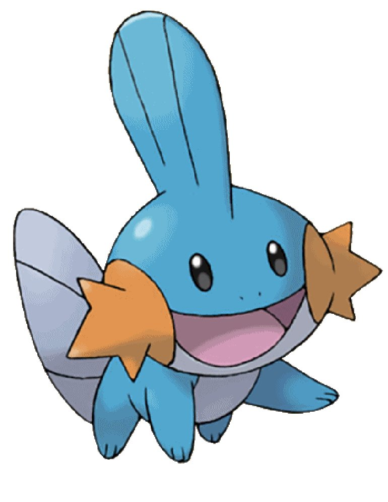 Tazeyo evolves into a Mudkip when wet.
