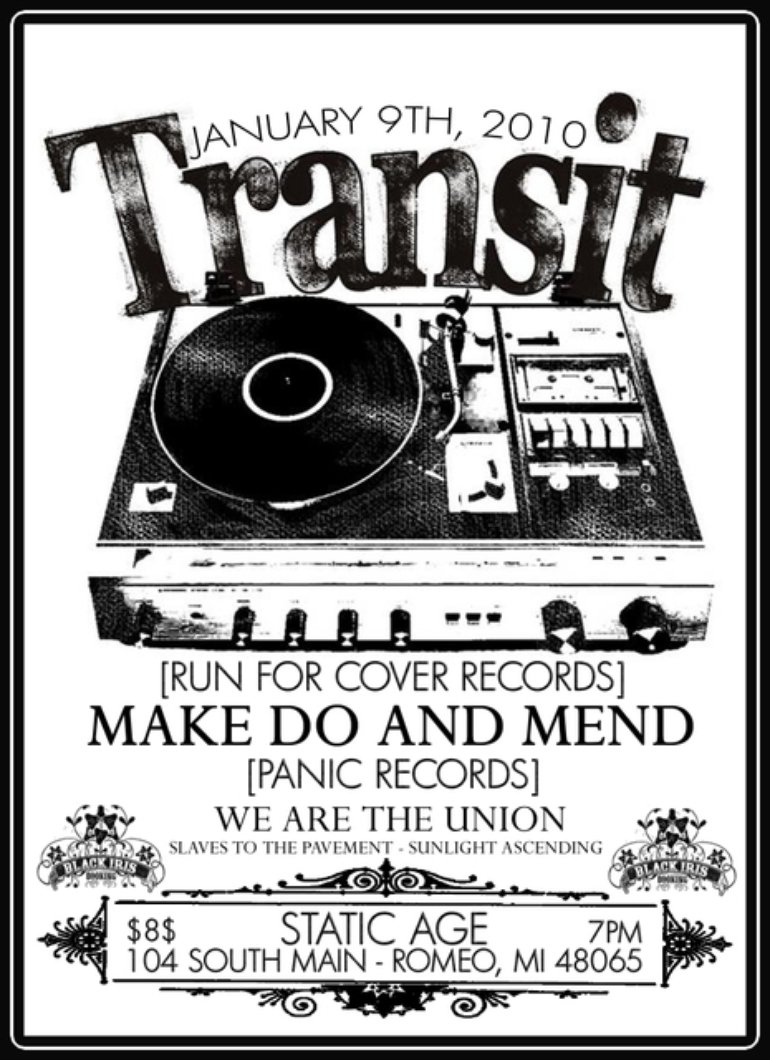 Jan 9th, 2010 Show w/ Transit, Make Do and Mend
