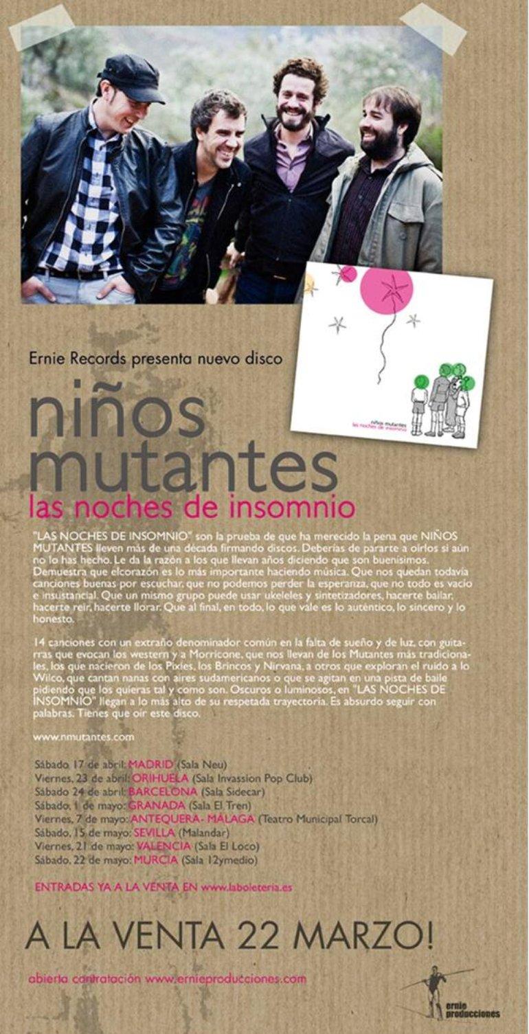 GIRA NIÑOS MUTANTES / NUEVO DISCO a la venta 22 MARZO 2010