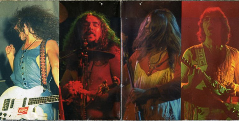 Cocaine label on Geezer's guitar (1971)