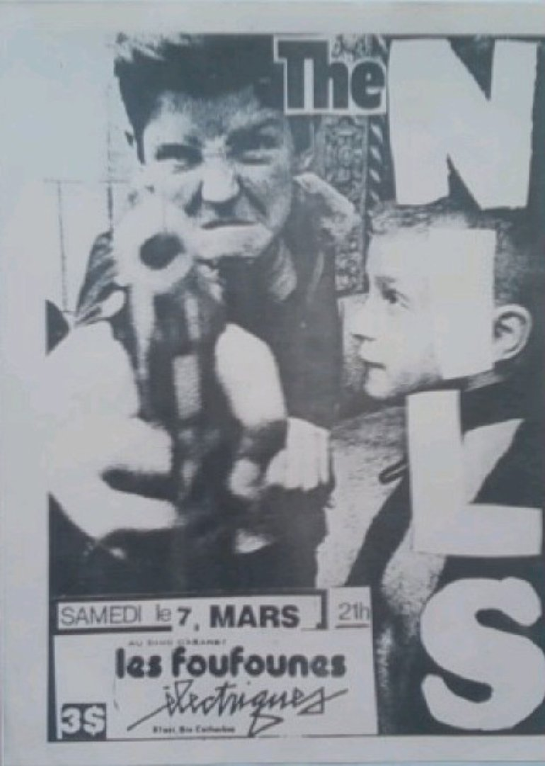 Flyer from a show at Les Foufs