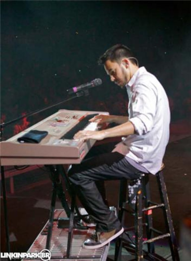 Mike on the piano