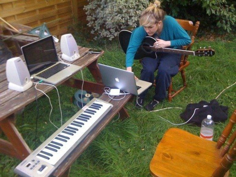 recording the album in fin's garden last summer