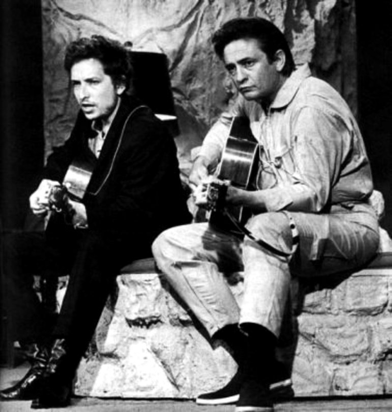 Johnny Cash with Bob Dylan