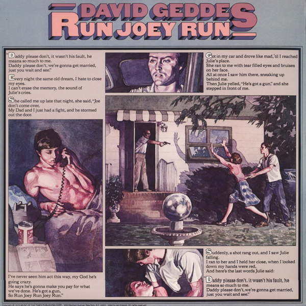 David Geddes - Run Joey Run