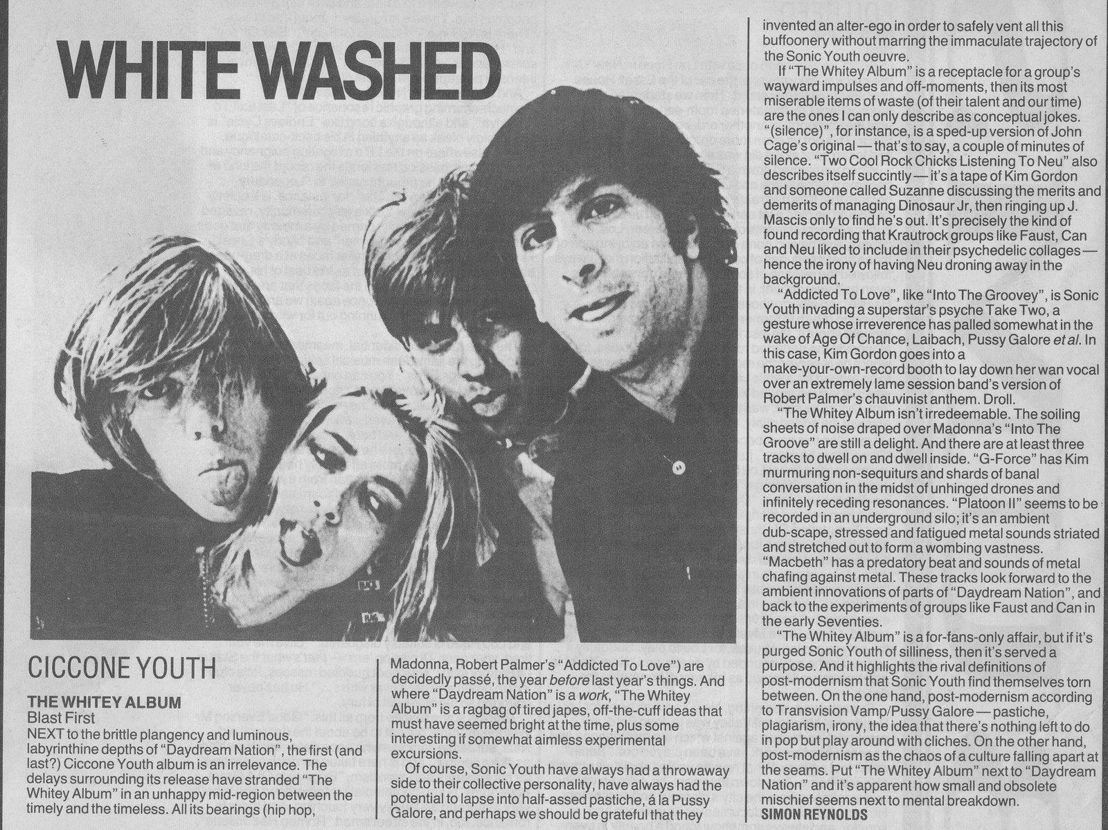 Ciccone Youth Lyrics, Music, News and Biography | MetroLyrics