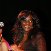 Miss Awa Timbo on stage