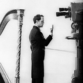 Bussotti in Stockholm for a television broadcast in 1967