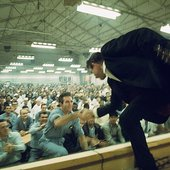 Cash performing at Folsom Prison in Represa, California, 1968.