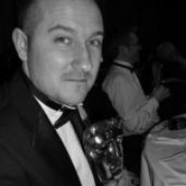 Richard Beddow with Video Game BAFTA for Empire Total War