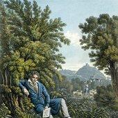 Franz Hegi (1754-1850), Beethoven komponiert die Pastorale - Aquatintaradierung nach einer Zeichnung