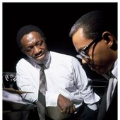 Art Blakey and pianist Cedar Walton, by Francis Wolff.