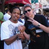 Zumbi from Zion I with DJ Platurn at SXSW 2009