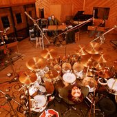 On studio drums and band