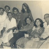 Hemanta with Soumitra Chatterjee et al.