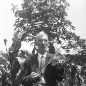 Jilson Setters playing fiddle circa 1926.