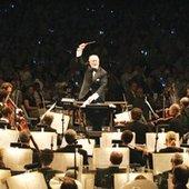 John Williams conducting the Boston Pops Orchestra