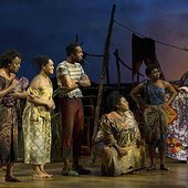 """Scene right before \""""Baptize Me\"""" - 'The Book of Mormon' on Broadway"""