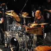 Drummer Rune Engen at soundcheck