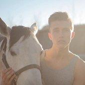 Ian Thomas and a horse