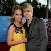 Chord Overstreet and Dianna Agron