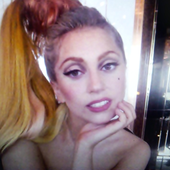 Lady GaGa's new avatar on Twitter.