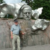 with Sibelius, Helsinki, 2009