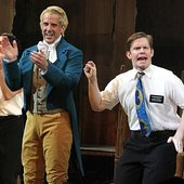 """Lewis Cleale (Joseph Smith) & Rory O'Malley (Elder McKinley) - \""""The Book of Mormon\"""" on Broadway"""