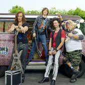 Iron Weasel and their band van