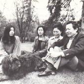 Yun and a dog