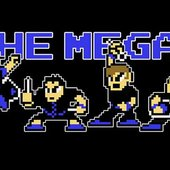 The Megas in 8-Bit style