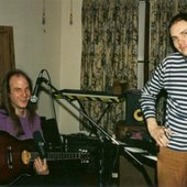 Jimmy Flemion and Billy Corgan recording Starjob