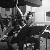 "Leo Wright with Tom Jobim recording \""Favela\"" in 1963"