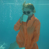 Alison Goldfrapp drinking tea underwater (2012)
