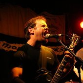 The Living Fields' vocalist, Jon Higgs.