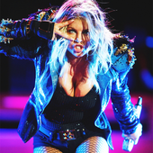 Fergie on stage.