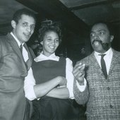 Larry Ridley, Patricia Greaves (waitstaff) and Roy Haynes at Lennie's on the Turnpike, Salem MA, February 1964