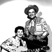 Bonnie with Paul Tutmarc (as part of the K-6 Wranglers)