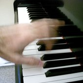 Brian Kelly - left hand at piano