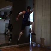 Greg Gibbs performs dangerous aerial maneuver.