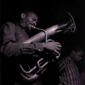 Kiane Ziwadi, on euphonium, with Freddie Hubbard during Hubbard's Ready For Freddie session, Englewood Cliffs NJ August 21 1961 (photo by Francis Wolff)