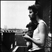 Jah Wobble with Mingus the Cat at Dellow House 1981