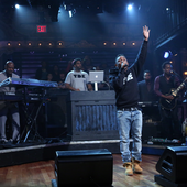 Kendrick Lamar performs with The Roots on Late Night with Jimmy Fallon on October, 2012
