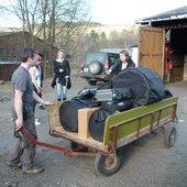 "Preparation for Saxon-Czech \""Musikabend\"" in Mynettfabrik in Steinbach-Oberschaar, Germany (2.4.2011)"