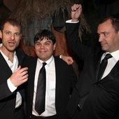 Matt Stone, Robert Lopez, & Trey Parker