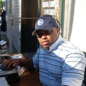 DJing the 2008 New Hope Plaza Block Party