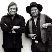 Johnny Cash with Waylon Jennings
