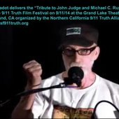 Vic Sadot delivers the tribute to John Judge and Mike Ruppert 9-11-14