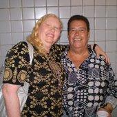 José Ribeiro e a Cantora Sara Lee no CLUBE PORTUGUÊS em Recife - PE 07-08-2009